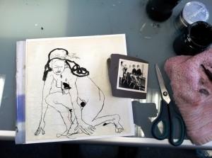 1 Entstehung Blatt 21 In den Startlöchern (c) Collage von Susanne Haun