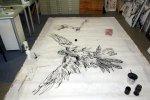 Lilith durchfliegt die Leinwand (c) Zeichnung von Susanne Haun