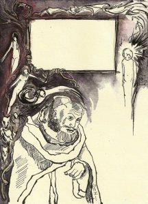 Blatt 1 Titelrahmen die Versuchung des heiligen Antonius (c) U.Schätzmüller u. S. Haun