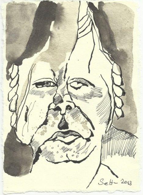 Blatt 121 Als ob Reue in Dir wühlte (c) Zeichnung von Susanne Haun