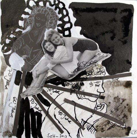 Blatt 19 Die Jahre (c) Collage von Susanne Haun