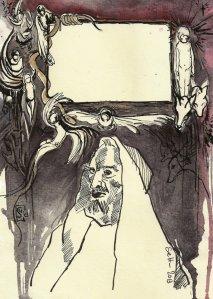 Blatt 2 Titelrahmen die Versuchung des heiligen Antonius (c) U.Schätzmüller u. S. Haun