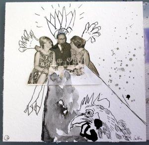 Blatt 22 Hahn im Korb (c) Collage von Susanne Haun