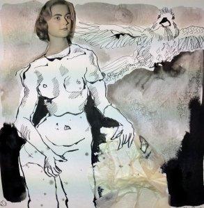 Blatt 23 Im Kontrapost (c) Collage von Susanne Haun