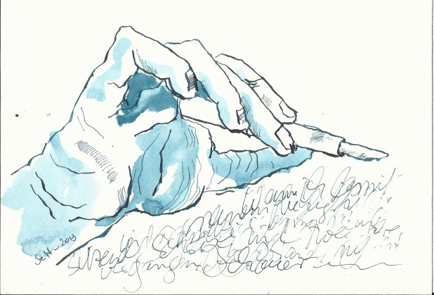 Der Lieblingsfüller (c) Zeichnung von Susanne Haun