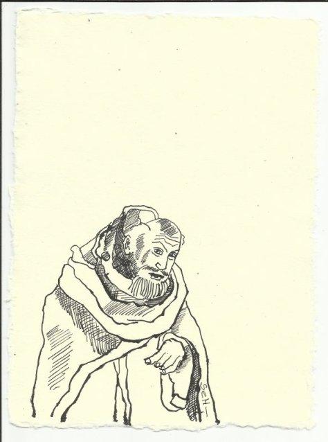 Titelblatt 1 Heiliger Antonius (c) Zeichnung von Susanne Haun