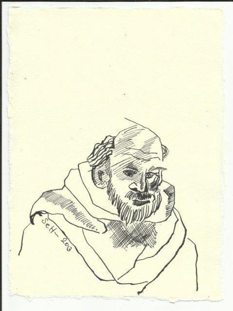 Titelblatt 2 Heiliger Antonius (c) Zeichnung von Susanne Haun
