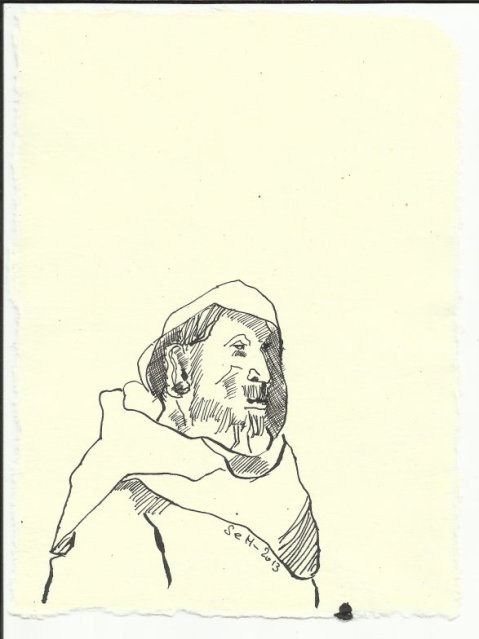 Titelblatt 3 Heiliger Antonius (c) Zeichnung von Susanne Haun