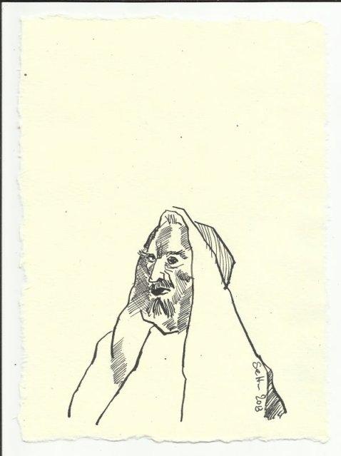 Titelblatt 4 Heiliger Antonius (c) Zeichnung von Susanne Haun