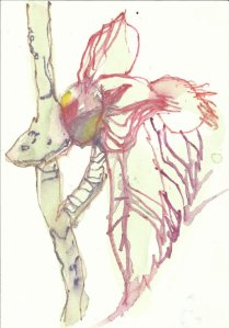 Das erste Baumgrün (c) Zeichnung von Susanne Haun