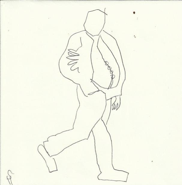 Dicker Bauch (c) Zeichnung von Susanne Haun