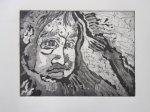 Inuk 15 x 20 cm Plattenmaß (c) Radierung von Susanne Haun