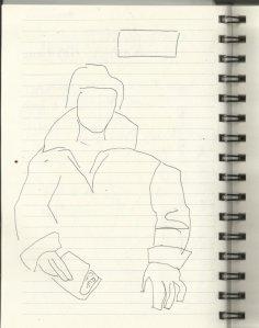 Aus meinem Skizzenbuch Gemäldegalerie (c) Zeichnung von Susanne Haun