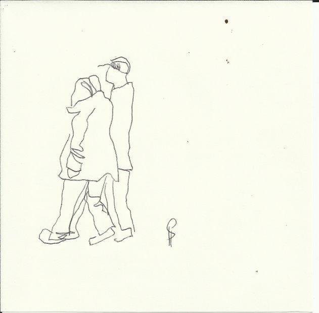Gemeinsam (c) Zeichnung von Susanne Haun