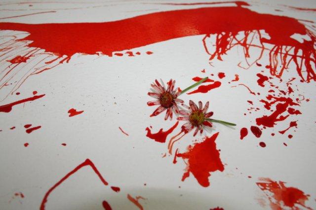 Spuren mit Tusche erzeugen (c) Foto von Susanne Haun