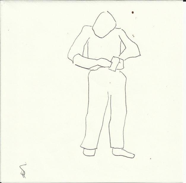 Wer klingelt (c) Zeichnung von Susanne Haun