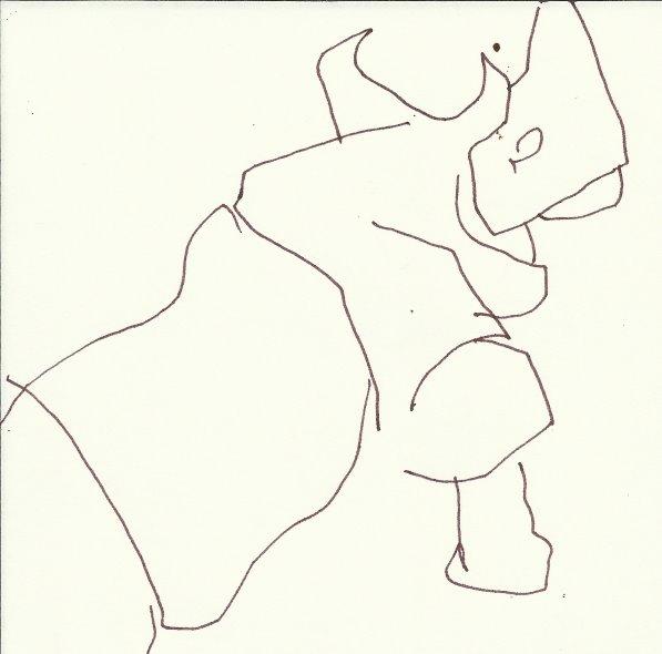 Nashorn - Version 8 (c) Zeichnung von Susanne Haun