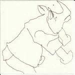 Nashorn - Version 9 (c) Zeichnung von Susanne Haun