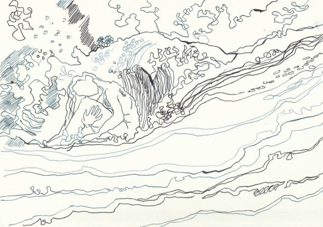 Wellenhexe Version 2 (c) Zeichnung von Susanne Haun