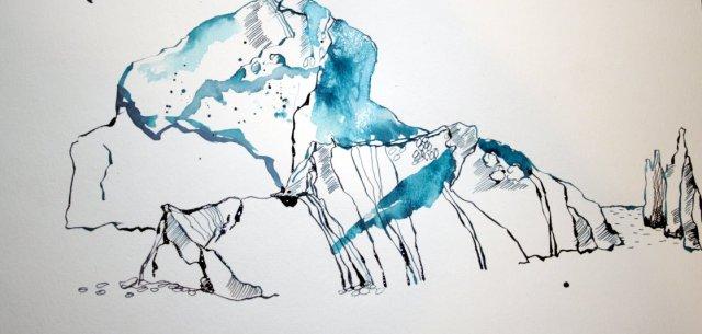 Kalte Küste  (c) Zeichnung von Susanne Haun