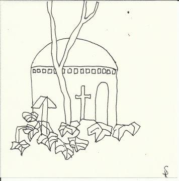 Französischer Friedhof (c) Zeichnung von Susanne Haun
