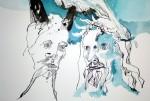 Die Gegenüberstellung (c) Zeichnung von Susanne Haun