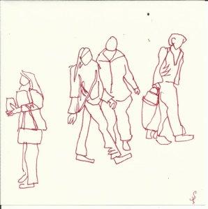 Passanten (c) Zeichnung  von Susanne Haun0001