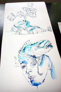 Der erste Meter der 3. Rolle (c) Zeichnung von Susanne Haun