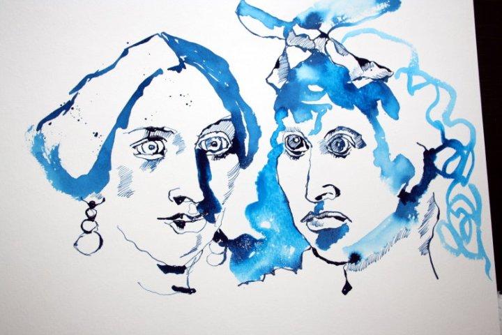 Meine Sinnbilder von Ludmilla Affing  und Hedwig Dohm (c) Zeichnung von Susanne Haun