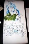 Aktueller Stand meiner dritten Rolle (c) Zeichnung von Susanne Haun