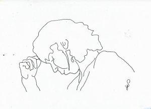 Es ist gut, eine Haltungszeichnung in klein zu besitzen - 20 x 30 cm (c) Zeichnung von Susanne Haun