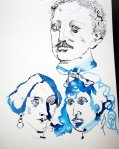 Lassalle und die Frauen (c) Zeichnung von Susanne Haun