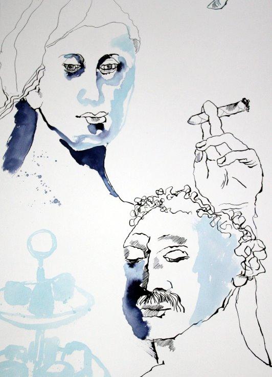 Ausschnitt für die Illustration Lassalle (c) Zeichnung von Susanne Haun