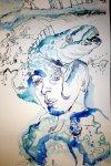 Ausschnitt Wellenhexe (c) Zeichnung von Susanne Haun