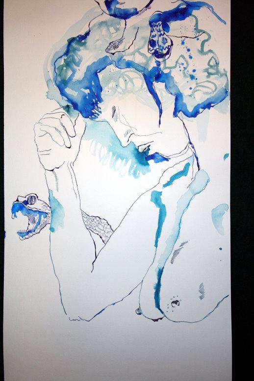 Ausschnitt entspannter Akt (c) Zeichnung von Susanne Haun