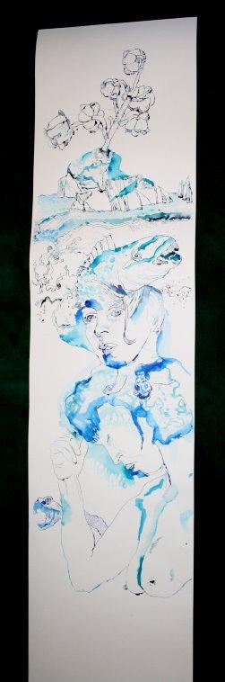 Gesamtüberblick der Rolle bisher (c) Zeichnung von Susanne Haun