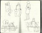 Am Neptunbrunnen (c) Zeichnungen von Susanne Haun