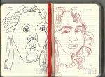 Selbstportrait Tagebuch 19. Woche (c) Zeichnungen von Susanne Haun