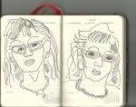 Selbstportrait Tagebuch 24. Woche (c) Zeichnungen von Susanne Haun