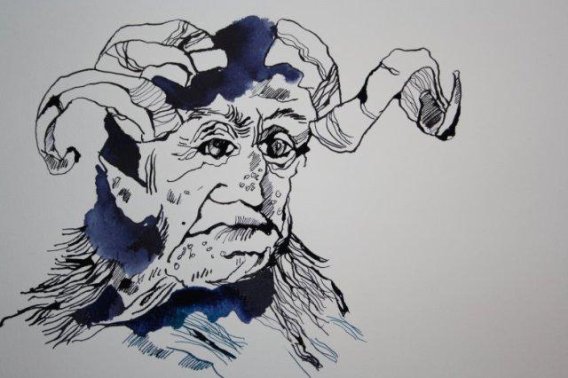 Ein Gruselwesen (c) Zeichnung von Susanne Haun