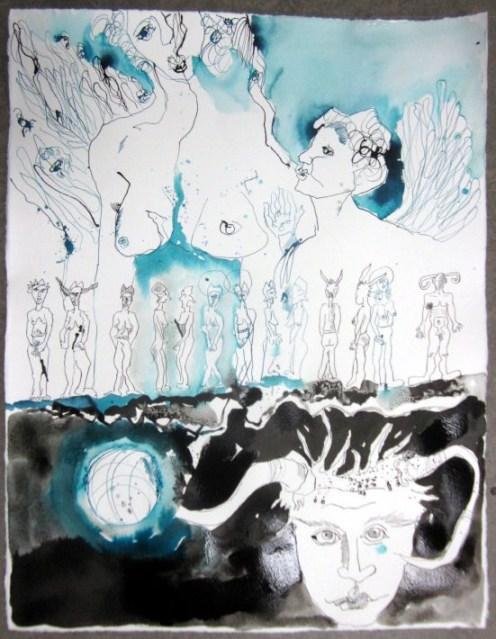 Die Engel machten die Seelen (c) Zeichnung von Susanne Haun