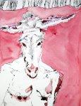 Saboath - Des Teufels Vater - 65 x 50 cm - Zeichnung von Susanne Haun