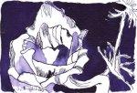 Petunie (c) Zeichnung von Susanne Haun