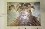 Zinkplatte mit Abdecklack für die letzte Ätzstufe (c) Foto von Susanne Haun