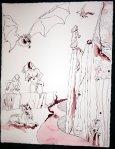 Entstehung - Ich stürze in den Abgrund - 65 x 50 cm (c) Zeichnung von Susanne Haun