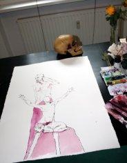 Größenvergleich - Ein Mensch entsteht (c) Zeichnung von Susanne Haun