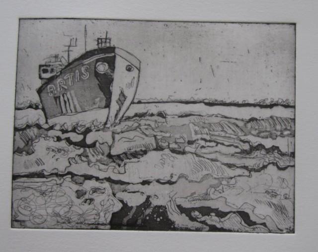 Eisbrecher - 15 x 20 cm - Radierung - Aquatinta von Susanne Haun