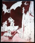 Ich stürze in den Abgrund - 65 x 50 cm (c) Zeichnung von Susanne Haun