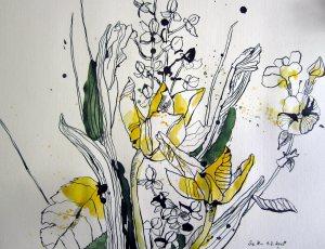 Blumen (c) Zeichnung von Susanne Haun