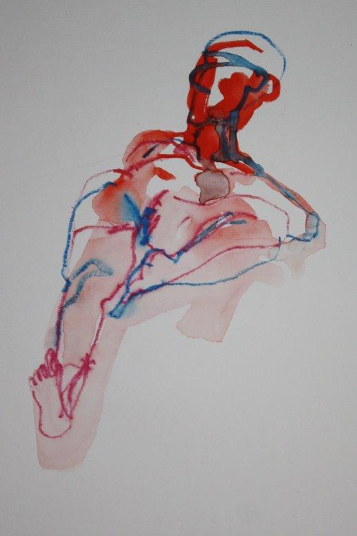 Üppiger Akt - liegend - 40 x 30 cm - Version 2 (c) Zeichnung von Susanne Haun